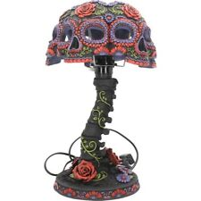Night Blooms Day of The Dead Skeleton Lamp Skull Gothic Collectible Nemesis Now