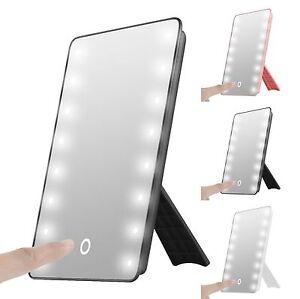 Touch LED Light Illuminated Make Up Cosmetic Bathroom Shaving Vanity Mirror