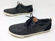 Men's MOUNTAIN CREEK Gray Leather Lac Up Casual Sneakers Boat Shoes Sz. 9