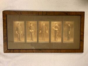 Vintage Framed and Matted Photographs of Soldier in Uniform
