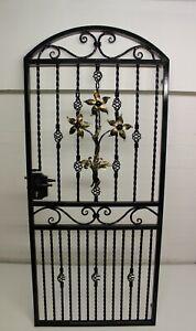 STEEL IRON METAL GATE, SECURITY GATE, GARDEN GATE.SIDE GATE.HANDMADE. HANDFORGED