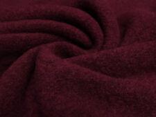 Stoff Ital. gekochte Wolle Kochwolle Walkloden uni dunkelrot bordeaux