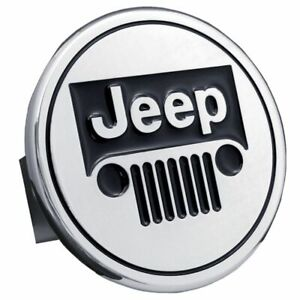 "Jeep Chrome Stainless Steel 1.25"" Trailer Tow Hitch Cover"