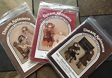 Lot of 3 DREAM SPINNERS SNIPPETS COLLECTION, dolls, clothes, quilt 2 NEW, 1 cut