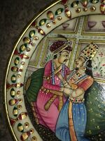 Rare Mughal Emperor Marble Plate Art Handmade Floral Indian Home Decor India