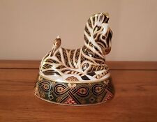 """Rare Royal Crown Derby - """"ZEBRA"""" - Paperweight - 1st Quality - LVIII - c.1995."""