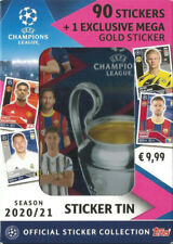 2020-21 Topps Champions League Collectors Tin (90 Stickers) + Mega Gold Sticker
