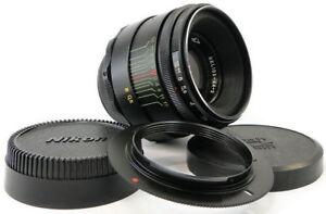 ⭐INFINITY Adapted⭐ HELIOS 44-2 58mm f/2 USSR Lens M42 + Adapt. Nikon F Mount