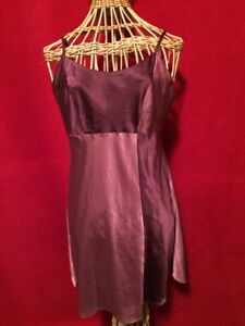 NWT CABERNET Two-Tone Maroon Satin Nightgown Size S