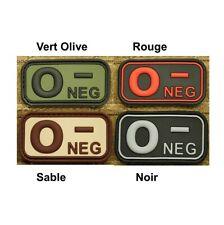 Ecusson / Patch PVC Groupe Sanguin A + / A POS - Vert Olive