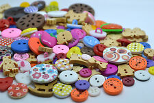 50 Random Mix Buttons Quality Wooden Resin Craft Scrapbooking Sewing Cardmaking
