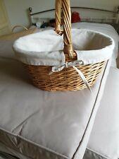 Small Lined Wicker Basket