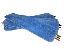 """5 Blue MaximMart Microfiber 18""""x5"""" 400GSM Mop Pads Wet Dry Mops Refill"""