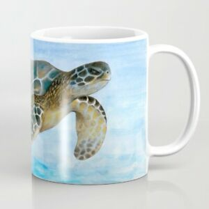 Coffee Mug 11oz or 15oz Turtle 1 ocean sea Blue art L.Dumas