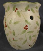 Olde Cape Cod Stoneware Holly and Berries Aroma Melter