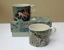 Spode William Morris el Brook y tazas de acanto, Conjunto de 2 en una caja de regalo