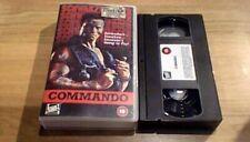 Commando FOX UK PAL VHS VIDEO 1995 Arnold Schwarzenegger James Horner