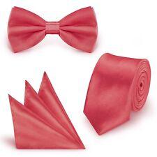 Krawatte /& Fliege Schwarz Edel Satin Slim Krawatte Fliege dünn schmale Krawatte