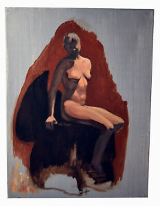 "24"" Oil Painting Canvas Panel Nude Woman Body Study Shannon Brickey Art I"