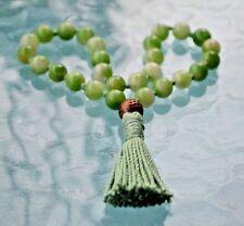 Knotted Mala, 27+1 Green Jade Quarter Mala, ,Green Pocket Japa Mala