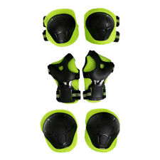 6 Kids/Youth Knee Pad Elbow Pads Helmet Guards for Bmx Multi-sports -Green