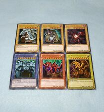 Yugioh Egyptian God Card Slifer Obelisk Ra Blue Eyes White Dragon 6 Card Set