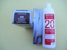 TWO 5M MATRIX SOCOLOR HAIRCOLOR PLUS ONE 16oz DEVELOPER NEW!