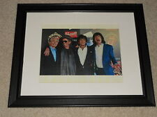"Framed Rolling Stones 50th Anniversary 2012 Mini-Poster, 14"" by 17"", Beautiful!"