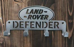 Landrover Defender Key Coat Holder Rack 3mm steel 4 hooks house keys Organiser