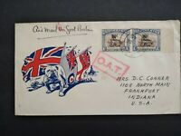 Kenya Tanganyika Uganda: 1945 British Bull Dog Patriotic Boxed OAT Cover to USA