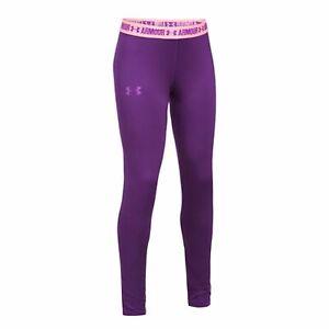 Under Armour Girl`s Women`s HeatGear® Armour Leggings Purple 8-20 Years