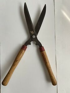 """Vintage Col-Cut Co. #2052 Wood Handle Garden Shears Hedge Trimmers Clippers 22"""""""
