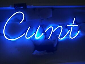"14""x7""Cvnt Neon Sign Light Wall Decor Handmade Real Glass Tube Visual Artwork"