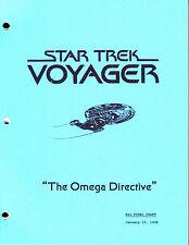 Star Trek Voyager script - Omega Directive