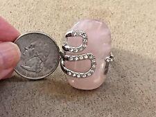 Princess Amanda Huge pink and crystal ring size 10