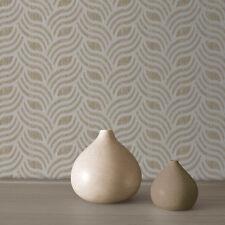 Precious Silks Silver and Gold Art Deco Wallpaper by Muriva 701372
