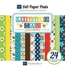 """ECHO PARK """"LITTLE MAN"""" 6X6 PAPER PAD BOY CHILD TODDLER SCRAPJACK'S PLACE"""