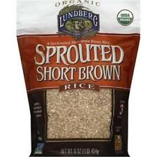 Lundberg Family Farms-Short Sprouted Brown Rice, Pack of 6 ( 16 oz bags )