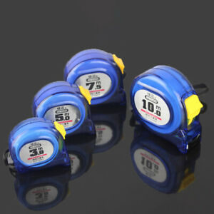 Blue Metric Tape Measure Retractable Stainless Steel Measuring Tool 3/5/7.5/10M