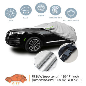 Universal For SUV/JEEP Car Cover Waterproof UV Rain Weather Outdoor Protection