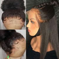 Yaki Kinky 360 Lace Full Frontal Wig Virgin Indian Human Hair Wigs Glueless Soft
