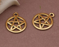 12pc Tibetan Gold(pentagram pendant)Bead Charms Accessories wholesale PJ2486
