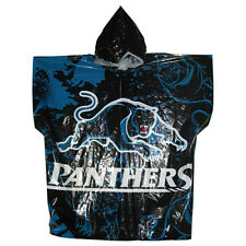 Penrith Panthers Official NRL Full Print Logo Plastic Poncho With Hood