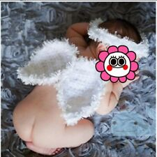 Baby Girl Boy Crochet Knit Costume Photo Photography Prop Wings Outfits  ^