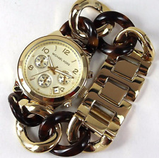 Michael Kors Runway Chain Link Acrylic Ladies Watch MK4222