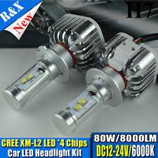 NEW 80W 8000Lm H7 Car LED System Headlight Kit Lamp Turbo LED Light Source 6000K