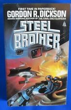 1985 STEEL BROTHER by Gordon R. Dickson Paperback Tor 53552-9 1st VF-
