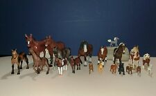 Lot of 19 HORSE Figures (7) SAFARI Ltd Minis (5) SCHLEICH (7) Assorted Used Toys