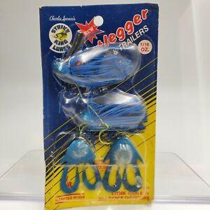 Vtg Pack Strike King Bootlegger W Trailers BLJ716-64 Blue Black 2 Pack 7/16oz