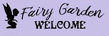 Stencil Fairy Garden Welcome Fairies Fantasy Make a Sign